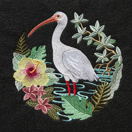 Ibis Tropical Embroidery by Sally Weigand