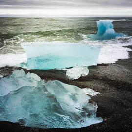 Iceberg pieces Jokulsarlon Iceland