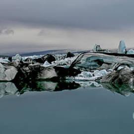 Icebergs In Iceland by Patricia Hofmeester