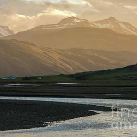 Iceland Golden Light Mountains and Water - Mike Reid