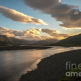 Iceland Ring Road River Sunset Clouds - Mike Reid