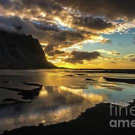 Iceland Stokksnes Liquid Sunrise by Mike Reid