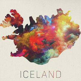 Iceland Watercolor Map - Design Turnpike