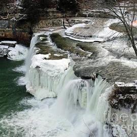Steve Gass - Icy Upper Falls at Cataract Indiana