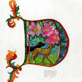 Illuminated Letter D by Genevieve Esson