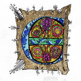 Genevieve Esson - Illuminated Letter E