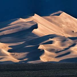 Illuminated Sand Dunes by Alana Thrower