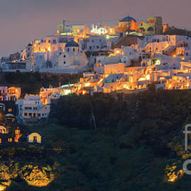 Henk Meijer Photography - Imerovigli after sunset, Santorini