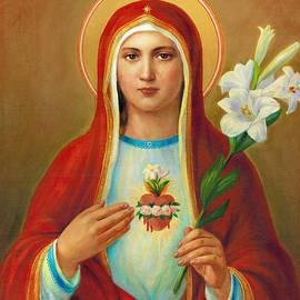 Immaculate Heart of Mary by Svitozar Nenyuk