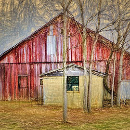 William Sturgell - Impressionistic Weathered Barn and Shed