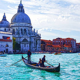 Georgia Mizuleva - Impressions of Venice Italy - Traghetto Crossing the Grand Canal