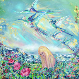 In the alps, hummingbirds by Nino Ponditerra