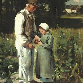 In the fields, Anvers sur Oise, 1882 - William Edward Stott