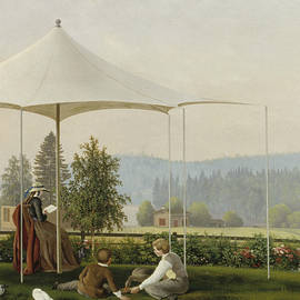 In the Garden of Haminalahti - Ferdinand von Wright