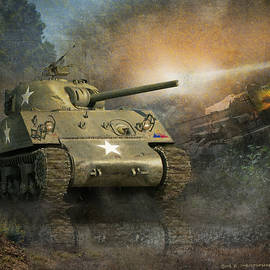 R christopher Vest - In The Hedgerows-- Sherman Tank