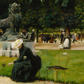 In the Luxembourg  - Charles Courtney Curran