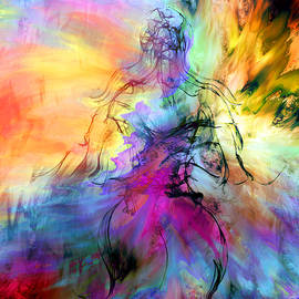 Abstract Angel Artist Stephen K - In the Museum a painting becomes Her