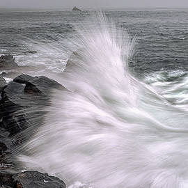Marty Saccone - Incoming Ocean Surge At Quoddy Head State Park