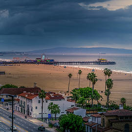 Incoming - Rain At The Pier by Gene Parks