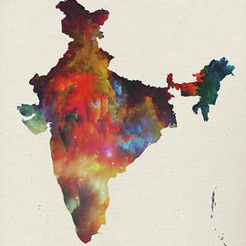 Design Turnpike - India Watercolor Map