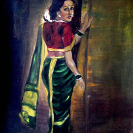 Indian Lady in Saree by Suvarna Dheringe