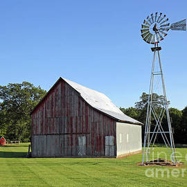 Indiana Barn and Windmill by Steve Gass