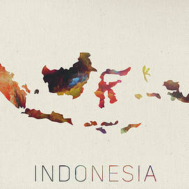 Design Turnpike - Indonesia Watercolor Map