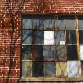 Industrial Window And Red Brick 3 by Anita Burgermeister