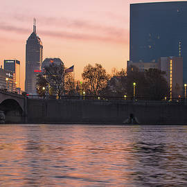 Gregory Ballos - Indy Skyline On the River - Indianapolis Morning