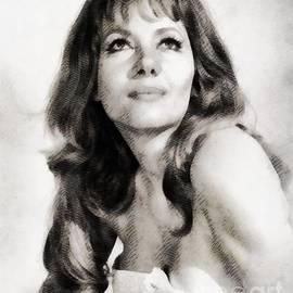 John Springfield - Ingrid Pitt, Vintage Actress by John Springfield