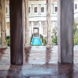 Inside the Getty Villa by Irving Starr