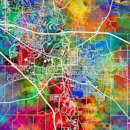 Iowa City Map - Michael Tompsett