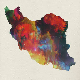 Design Turnpike - Iran Watercolor Map