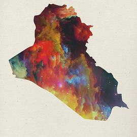 Design Turnpike - Iraq Watercolor Map