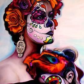Irene and Flowers by Barbara Rivera