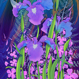 Iris and Fireweed by Teresa Ascone