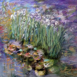 Irises in the Lily Pond by Tolere