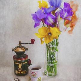 Irises Live Laugh Love by Anna Louise