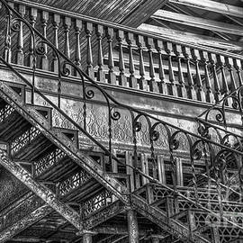 Reid Callaway - IronWorks Stairs BW Historic Interior Design Art