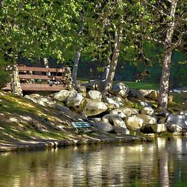 Linda Brody - Irvine Park Lake Abstract 2