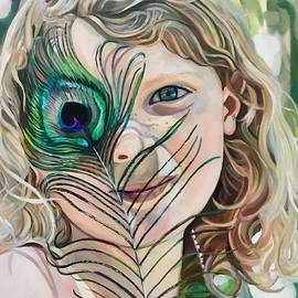 Isla and Peacock Feather by Plum Ovelgonne