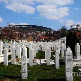 Imran Ahmed - Islamic Muslim Tombstones of Bosnian soldiers at Martyrs Memorial Cemetery Kovaci Sarajevo Bosnia