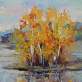 Natalia Bardi -  Island with birch trees