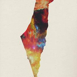 Design Turnpike - Israel Watercolor Map
