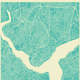 ISTANBUL STREET MAP - Jazzberry Blue