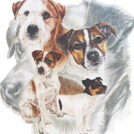 Barbara Keith - Jack Russell with Ghost Image