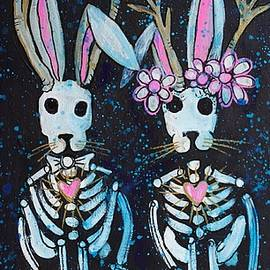 Jackalope Love by Laurie Maves ART