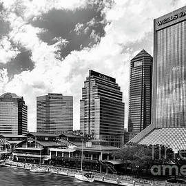 Kay Brewer - Jacksonville, Florida Skyline In Black and White