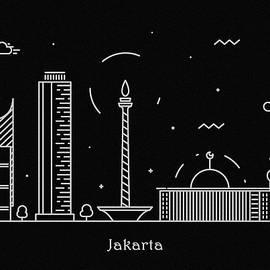 Inspirowl Design - Jakarta Skyline Travel Poster