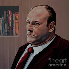 Paul Meijering - James Gandolfini Painting